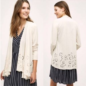 Anthropologie Meadow Rue Verna Cut Out Cardigan S